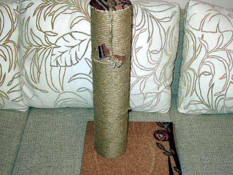 Как сделать домик-когтеточку для кошки в домашних условиях.