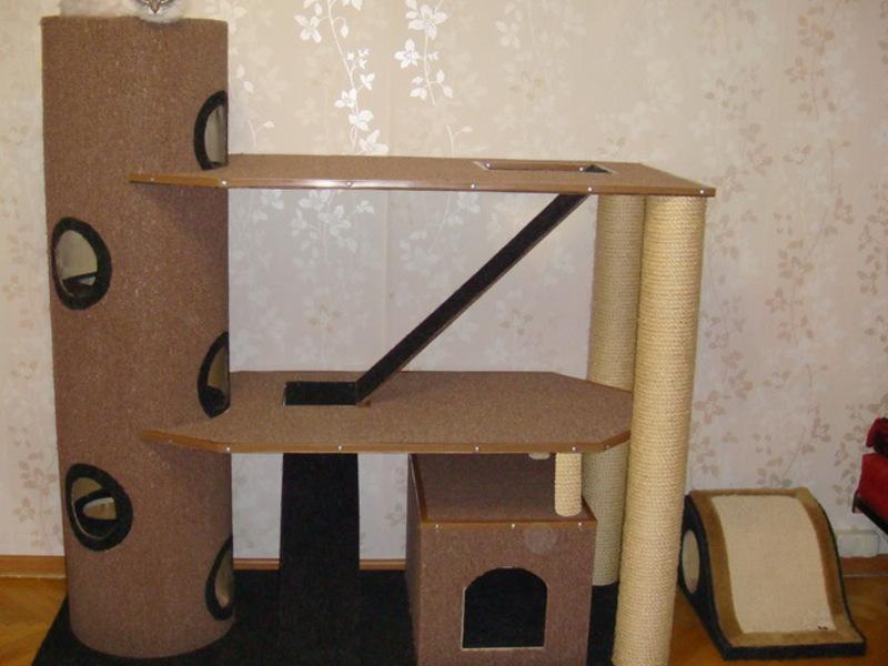 Как сделать своими руками домик для кошки инструкция
