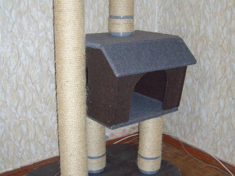 Как сделать домик-когтеточку для кошки