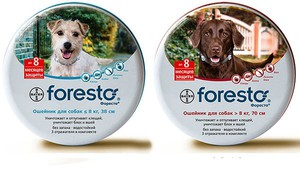 Форесто  - противоблошиные ошейники для собак