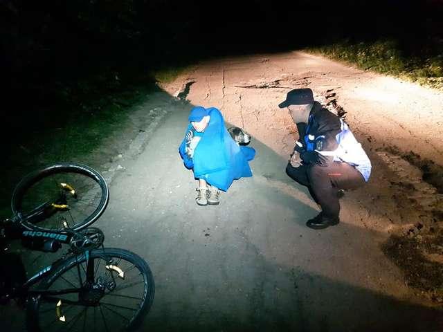 Бродячий пёс грел велосипедиста всю ночь