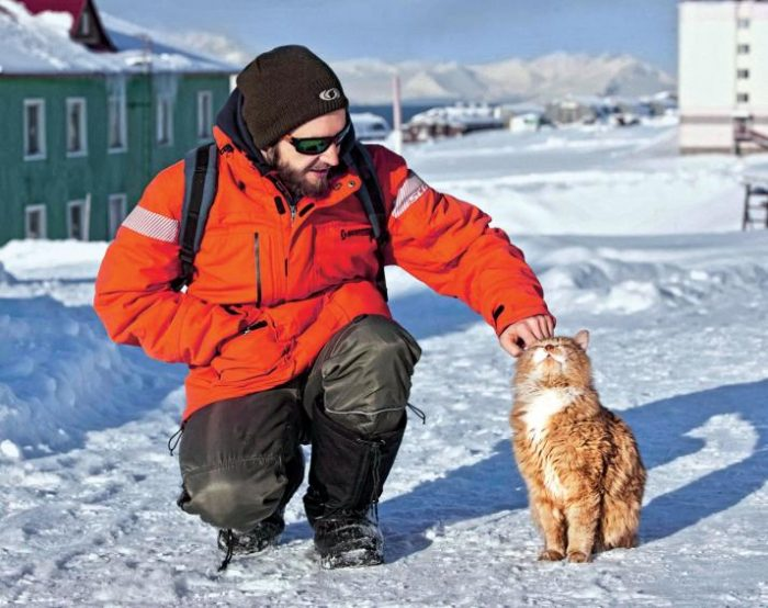 Кот Кеша живет на норвежском архипелаге