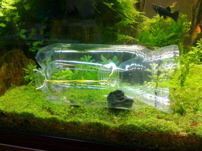 Заготовка для аквариумного декора из пластиковой бутылки