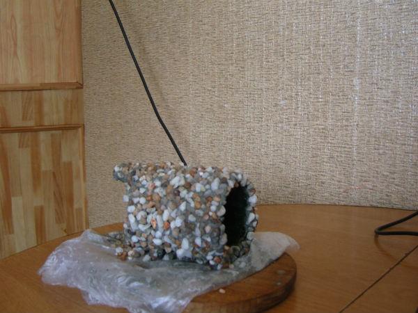 Поделка для аквариума из мелких камушков