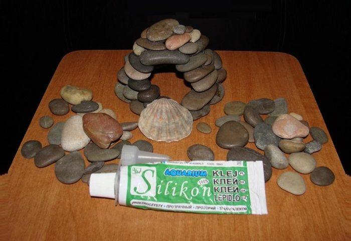 Самоделка для аквариума из камней