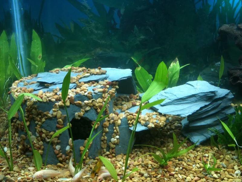 Самодельный грот для аквариума