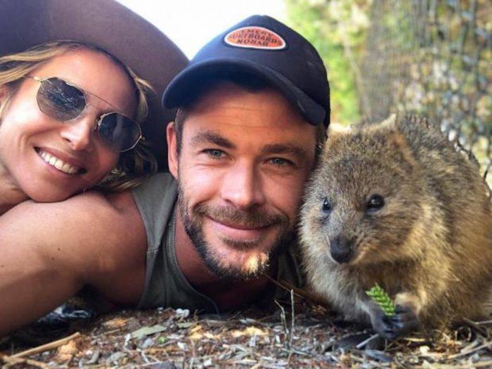 Крис с супругой Эльзой и квоккой