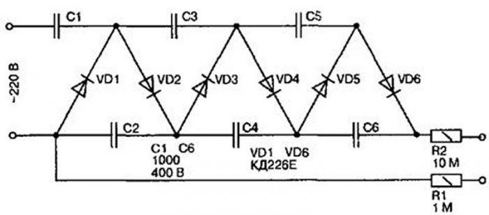 Схема умножителя