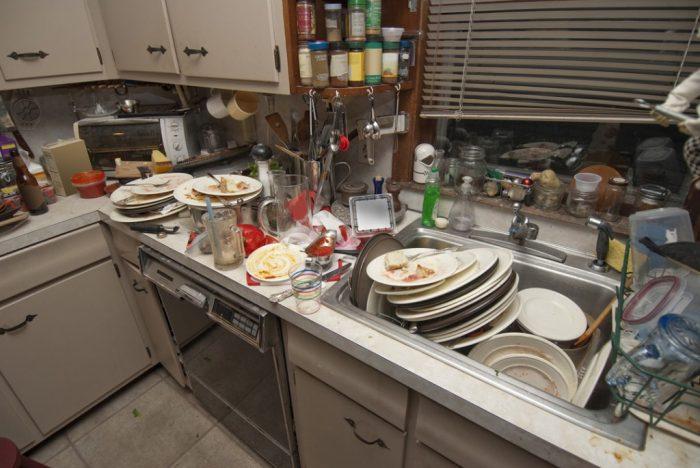 Неубранная кухня