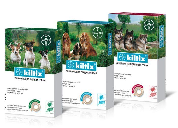 Три упаковки с ошейниками Килтикс