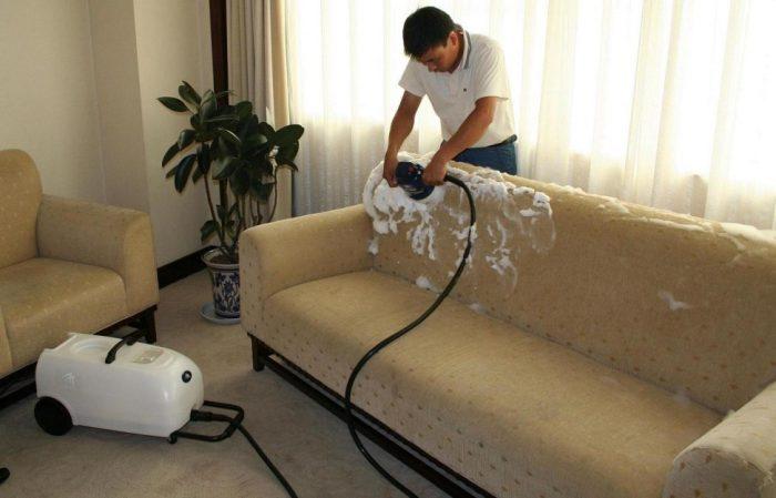 Чистка дивана от плесени
