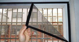 Установка москитной сетки на окно