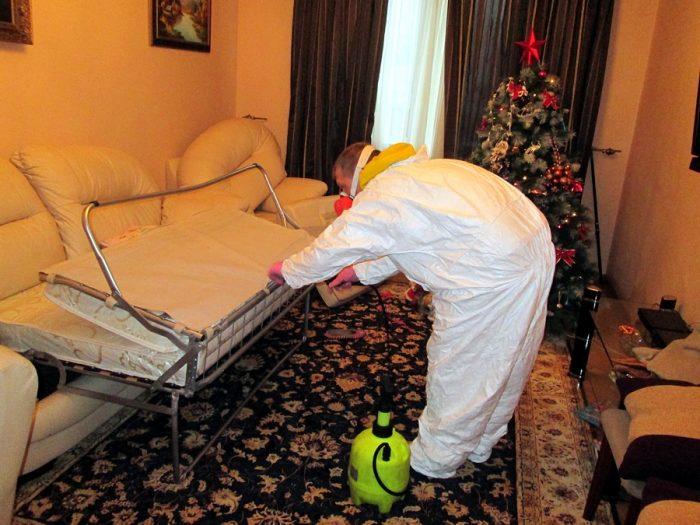Обработка спального места