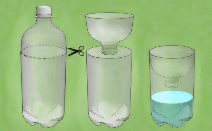 изготовление ловушки из пластиковой бутылки