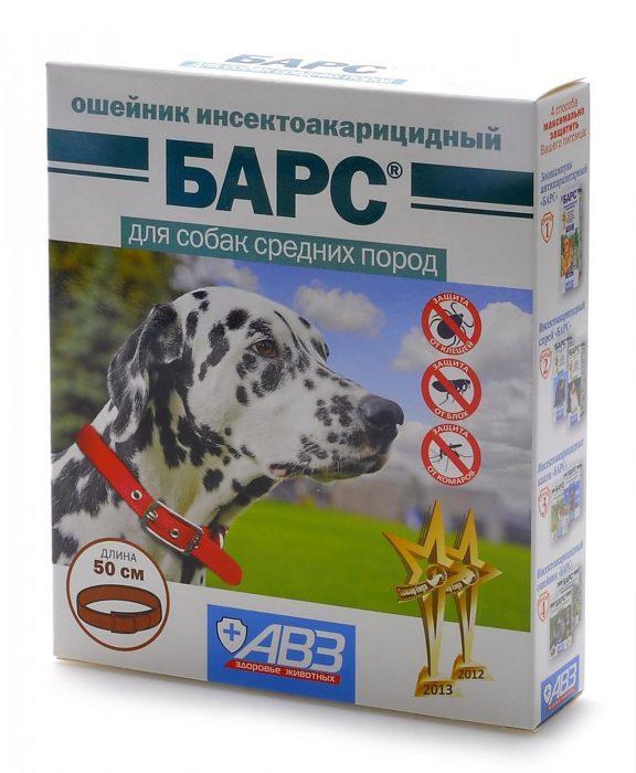 Ошейник против клещей для собак средних пород