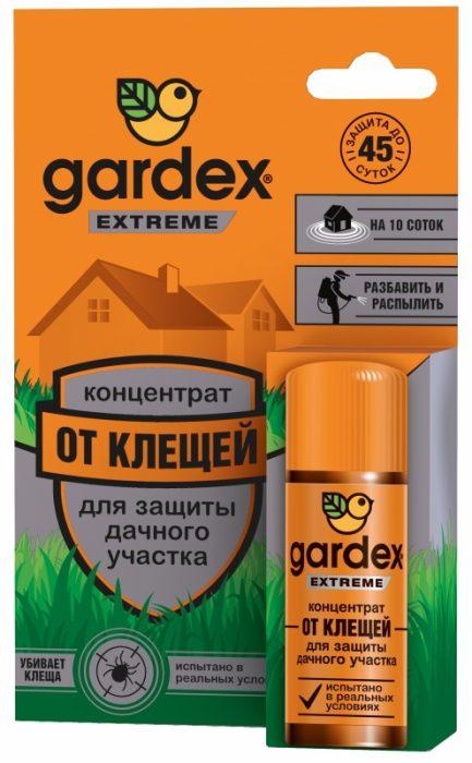 Концентрированное средство Гардекс Экстрим для защиты дачного участка от клещей