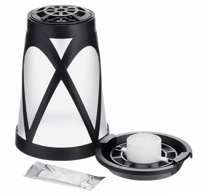 Корпус фонаря, свеча и пластина в упаковке