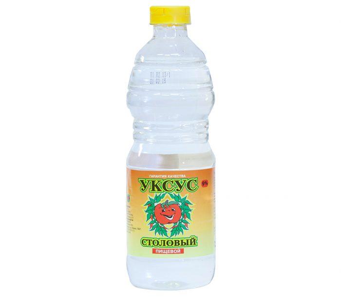 Уксус столовый в пластиковой бутылке