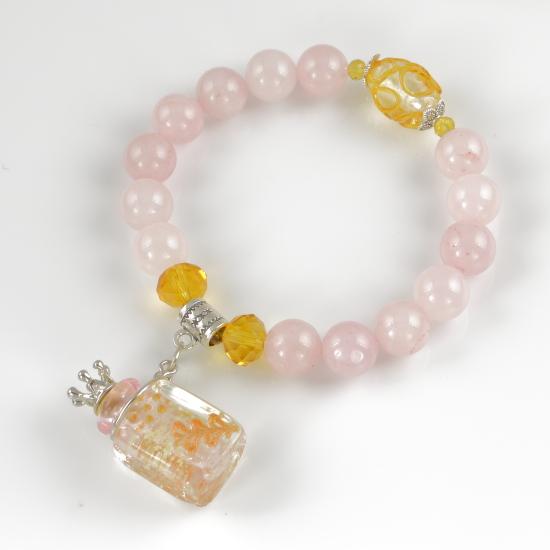 ароматический браслет светло-розовый