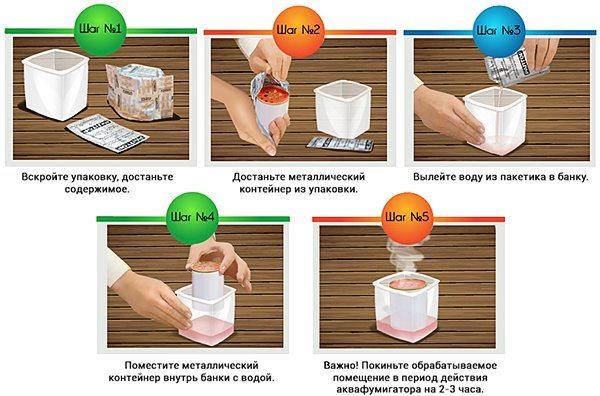 Инструкция по применению аквафумигатора «Раптор»