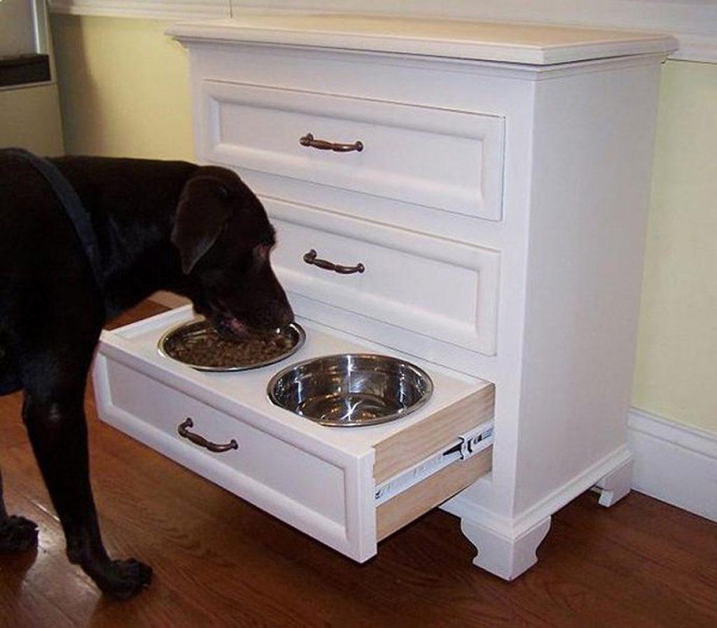 Специальная тумба для кормления собаки