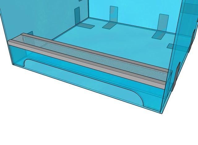 Металлическая сетка в террариуме